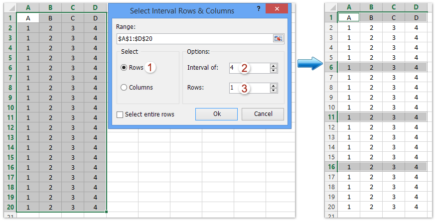 ad select interval rows