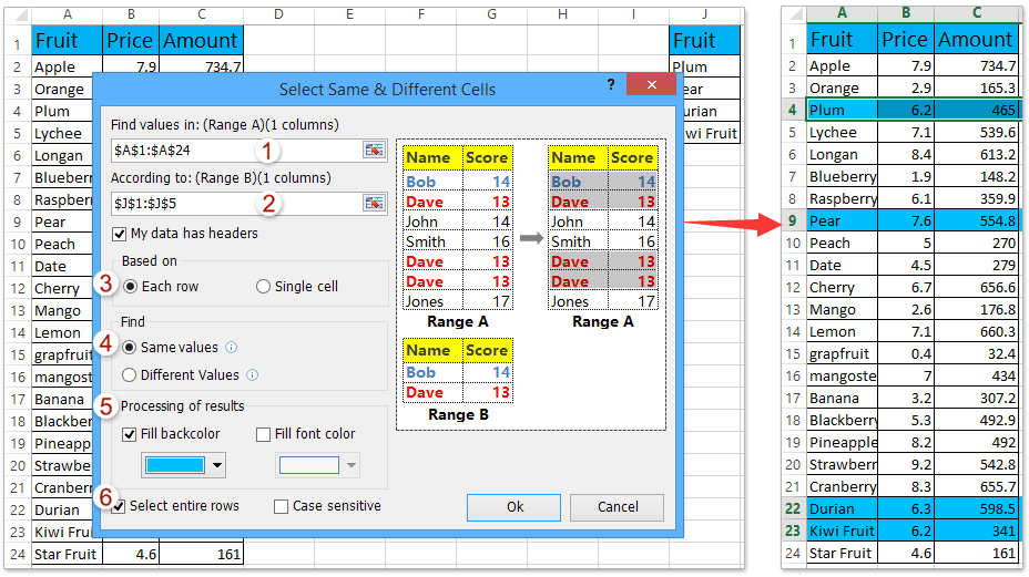 ad select entire rows based on same values