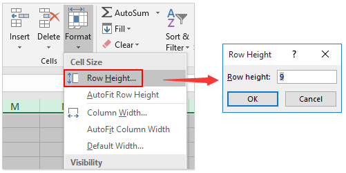 3 In The Row Height Dialog Type 9 Box And Click OK Button See Screenshot