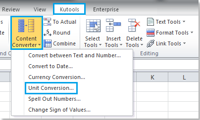 How to convert various unit measurements in cells in Excel?