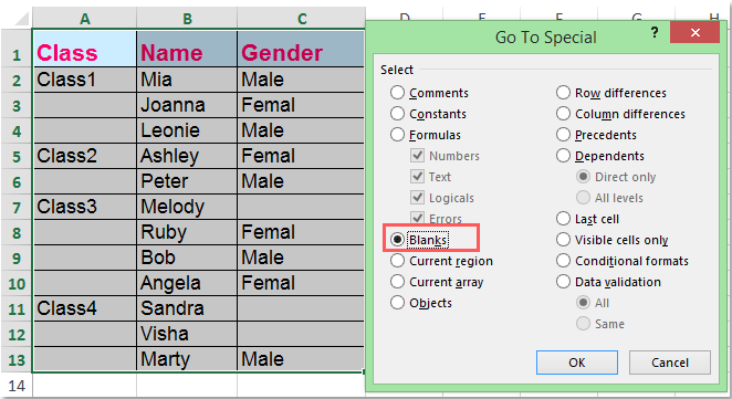 How to unmerge cells and fill with duplicate values in Excel?