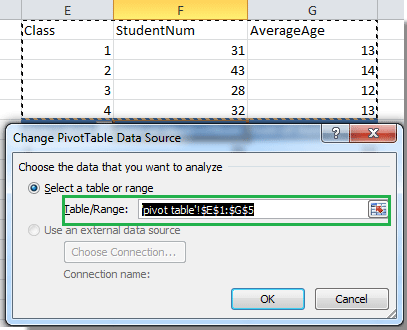 How to update pivot table range in Excel?