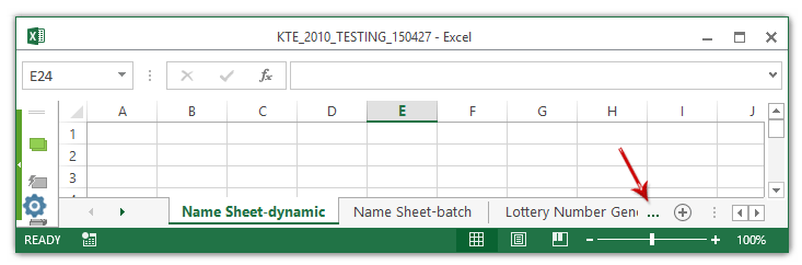 How to show sheet tabs vertically in Excel?