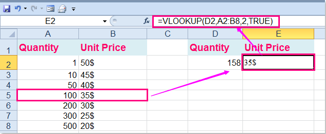 how to use vlookup exact and approximate match in excel