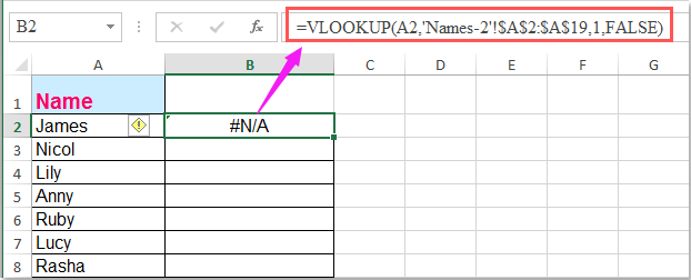 doc vlookup compare two sheets 3