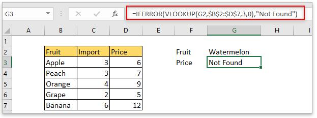 doc vlookup return default value 2