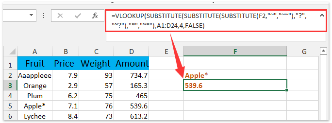 How to vlookup wildcard (~, *, ?) literally in Excel?