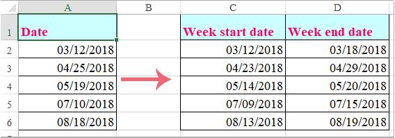 doc week start date 1