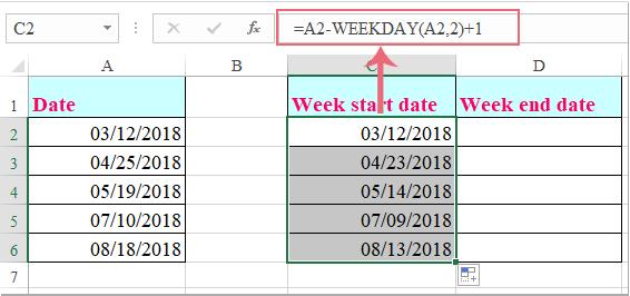 doc week start date 2
