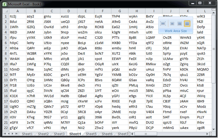 How to switch to full screen in Excel ?