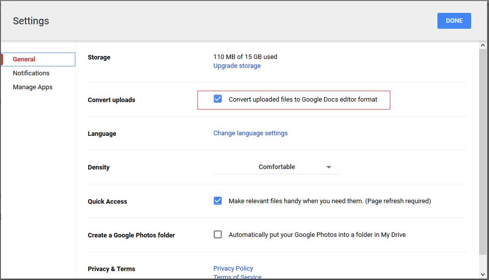 doc werkboek naar google sheet 3