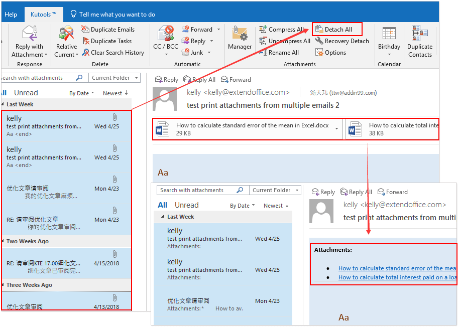 How to find and delete large attachments from emails in Outlook?