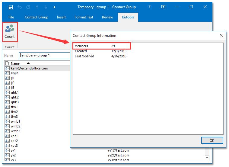 count distribution list memebers
