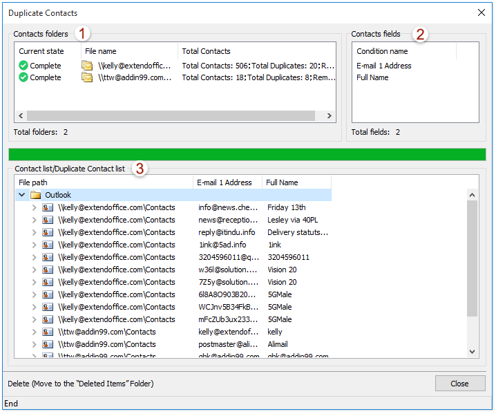ad outlook delete duplicate contacts 1