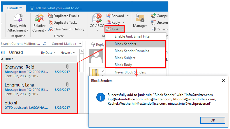 How to block out /off time in Outlook calendar?