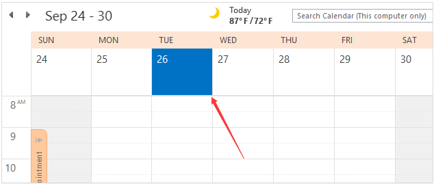 If You Show Your Calendar In The Week View Or Work Can Easily Create An All Day Event By Double Clicking Specified Date Cell At Top