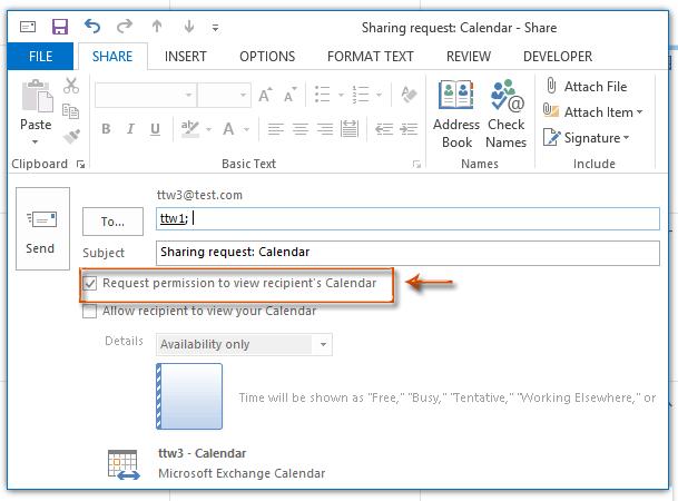 How To Ask For Accessing Other S Calendar Permission In Outlook