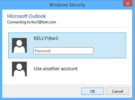How to prevent Outlook asking for credentials exchange every