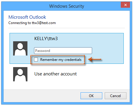 How to prevent Outlook asking for credentials exchange every time?