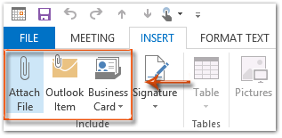 How to attach files to meetings or appointments in Outlook?