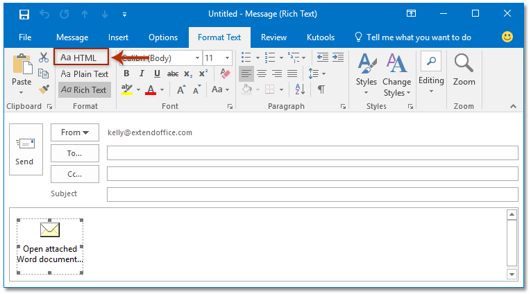 How to show missing attachment bar/box in message header in