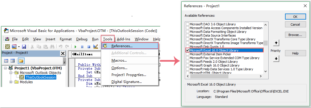How to export emails from Outlook to Excel automatically?