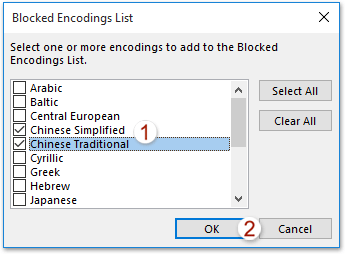 How to block foreign emails (with Chinese characters) in Outlook?