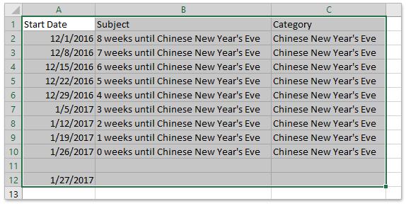 Calendario Countdown.How To Create A Countdown Clock Calendar In Outlook