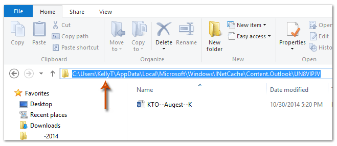 How to clear attachment cache of Outlook?