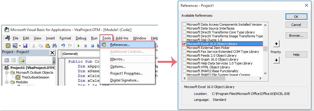 Exportieren von Excel-Daten nach Termin 2