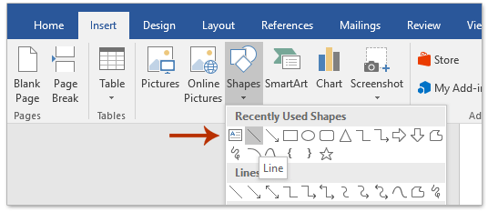 How to create an Outlook signature line in Word?