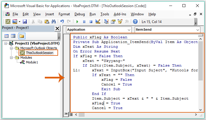 doc auto add text to subject 1