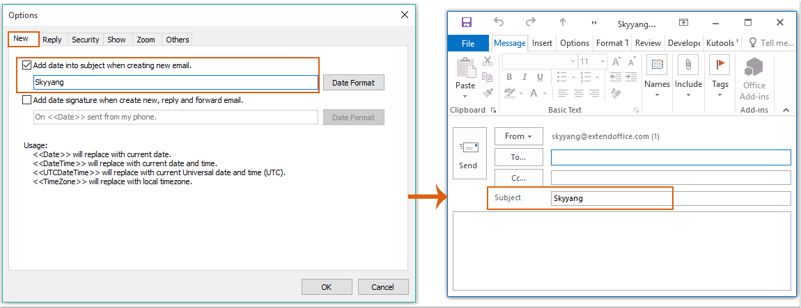doc auto add text to subject 7
