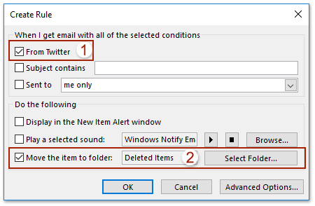 How to delete all emails from same sender address in Outlook?