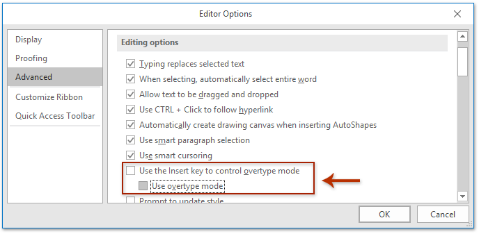 How to prevent Outlook from deleting text as I type in an email?