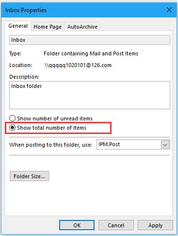 doc display total number message 4