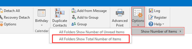 doc display total number message 5