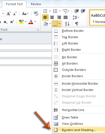 How to add and remove horizontal line in Outlook?