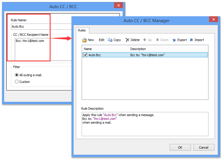 How to automatically bcc all emails you send in Outlook?