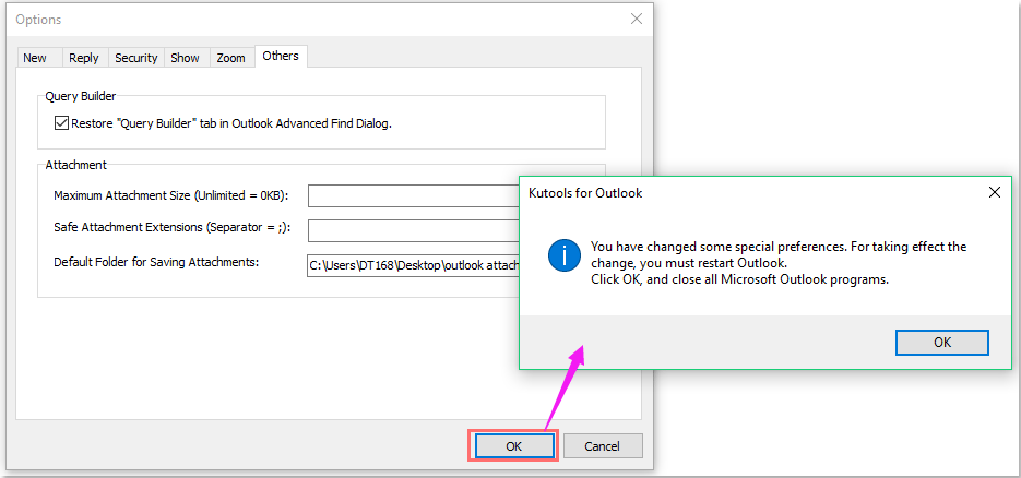 doc change default attachment location 011