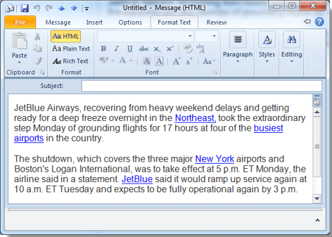 How to change hyperlink color in Outlook?