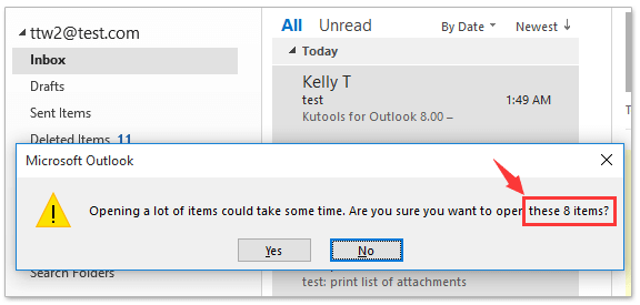 How to count total number of selected emails in Outlook?