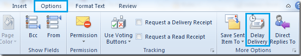 How to Delay or Schedule outgoing message delivery in Outlook?