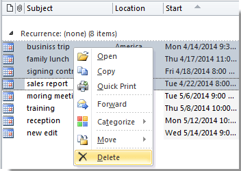 How to delete or remove old appointments in Outlook?