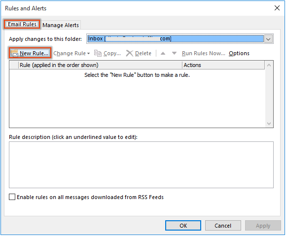 How to disable new email notifications for a specific