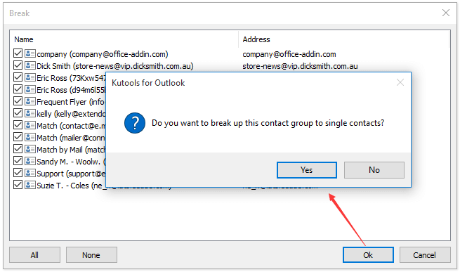 How to extract/export Outlook contact group (distribution