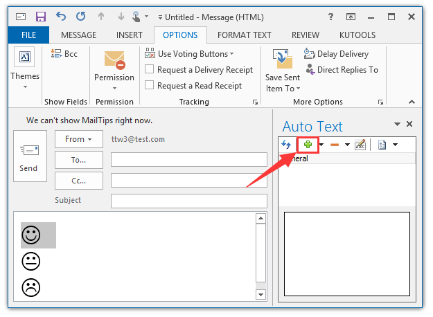 How do you put emojis on outlook email shortcut