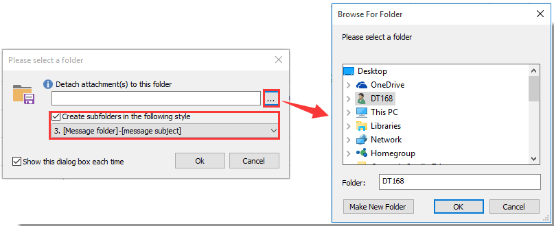 How to save all attachments from multiple emails to folder in Outlook?
