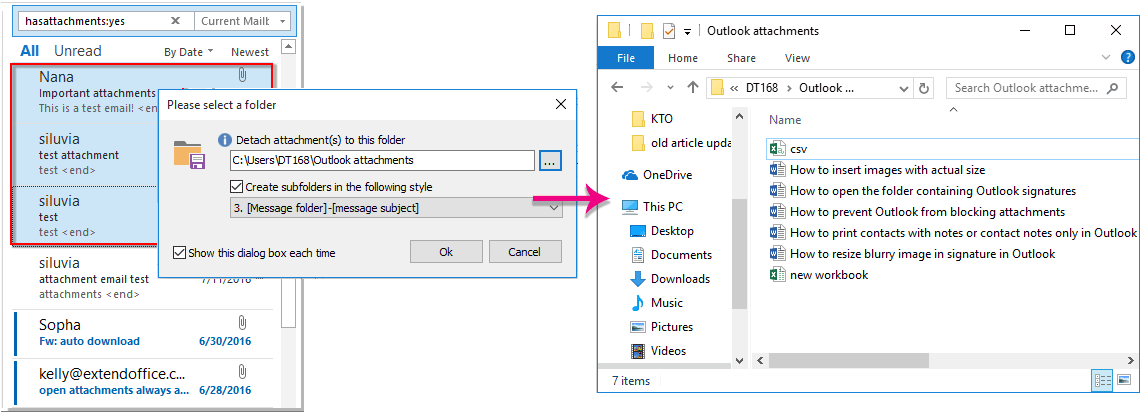 Outlook: Disable and enable previewing attachments in Reading Pane