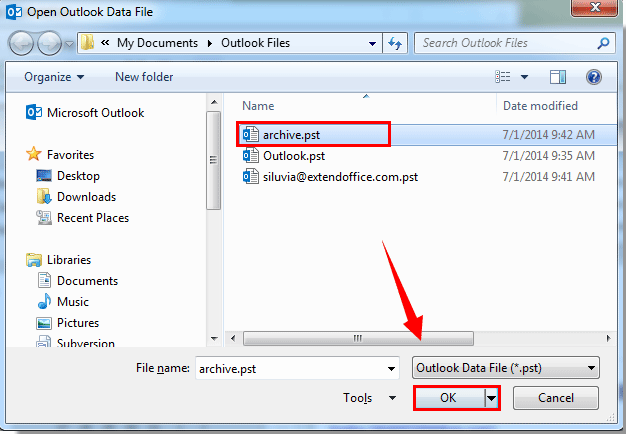 How to search archive folders in Outlook?